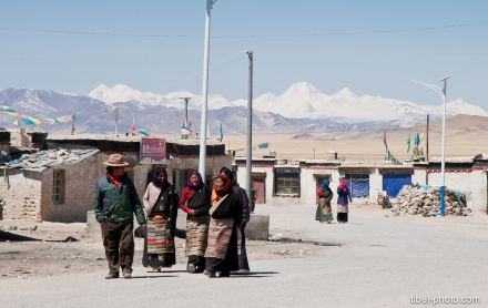 Local people in Paryang